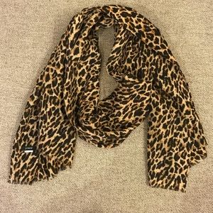 JCrew leopard lightweight scarf